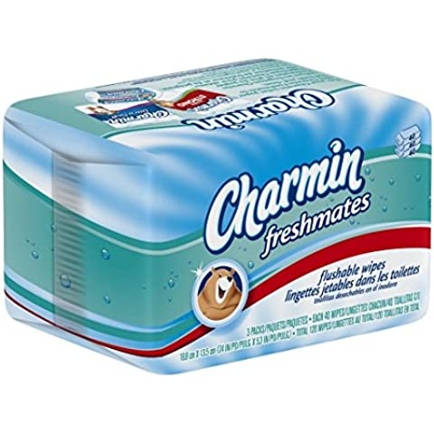 Charmin Freshmates Flushable Wipes 120 Count - Triple Pack Refills; Three 40-Count Refills (Pack of 8) by Charmin