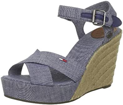 Hilfiger Denim LIVELY 3B EN56815337, Damen Sandalen, Blau (CHAMBRAY BLUE 927), EU 36