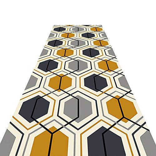 Läufer Teppich Flur Langer Teppich rutschfeste Anti-Statik-Geräuschreduzierung Cuttable Maschinenwaschbar,Home Decoration Mat 7mm (Color : A, Size : 1x2m)