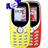 I KALL K31 Dual Sim 1.8 Inch Display COMBO OF TWO Basic Feature Mobile Phone With Bluetooth, GPRS, FM Radios, Flash Light And 1000 Mah Battery Capacity- Yellow & Red
