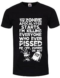 T-Shirt Zombie Apocalypse Homme Noir