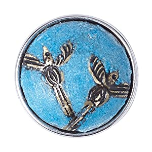 Noosa Chunk MELIA blue/ silver – powderstone/ brass