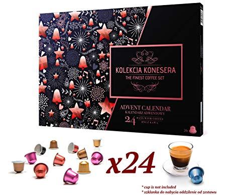 Calendario dell'avvento con capsule di caffè nespresso di nespresso lavazza belmio cafffitaly jacobs garibaldi davidoff