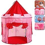 Con questa tenda colorata i vostri piccoli diventano delle bellissime principesse!! Tenda da gioco per bambini design Fairy Castle L'ingresso può rimanere aperto oppure essere chiuso Entrambe le finestre in rete sono permeabili all'aria Con m...