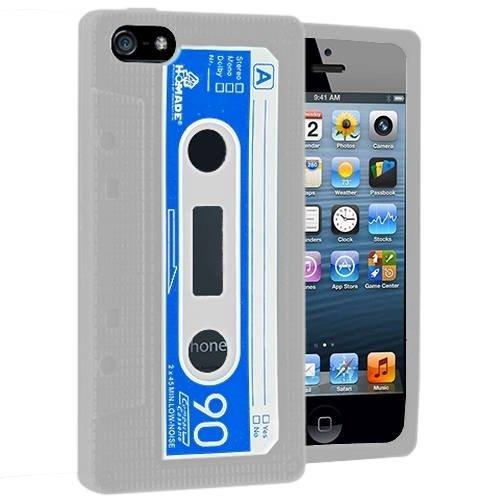 Gadget Giant iPhone 5 Retro Cassette Coque en Gel Silicone avec film protecteur d'écran LCD & & stylet tactile LCD d'écran-The New iPhone 5 sorti en septembre 2012 Design courbe en