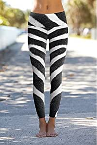 Om Shanti Power Pants Zebra Skin-XXS