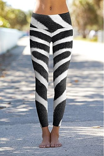 Om Shanti Power Pants Zebra Skin