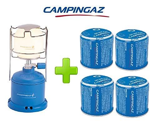 ALTIGASI Lanterne Lampe à gaz Camping 206 l 80 W + 4 pièces Cartouche à gaz Campingaz C206 GLS