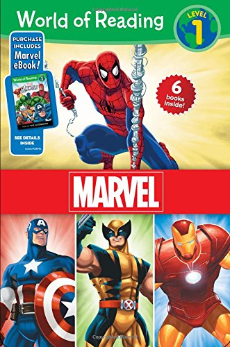 World of Reading Marvel Boxed Set: Level 1 - Purchase Includes Marvel Ebook! (World of Reading, Level 1) por Dbg