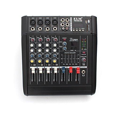 PMX402D-USB 4 Channel Professional Powered DJ Mixer Power Mixing Amplifier Amp USB - Amp Dj-mixer
