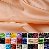 Seidentaft - Stoff Meterware - 27 Farben - Taft - Futterstoff - Deko (apricot)