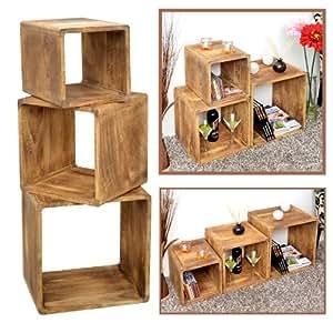 ts ideen 3er set lounge cube regal landhaus. Black Bedroom Furniture Sets. Home Design Ideas