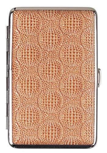 Zigarettenetui Wien Gold Chrom für 14 Zigaretten mit 100mm hochwertige Zigarettenbox mit Glitzer - LK Trend & Style
