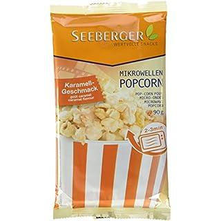 Seeberger Mikrowellen-Popcorn Karamell-Geschmack, 25er Pack (25x 90 g Packung)