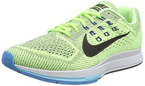 Nike Air Zoom Structure 18, Chaussures de sport homme Vert - Grün (Ghost Green/Black/Blue Lagoon/Gym Royal)