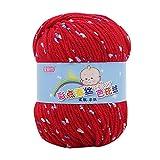 LCLrute 50g Baby Wolle Babywolle zum Stricken Hand Stricken Knicker Garn häkeln weiche Schal Pullover Hut Garn Strickwo