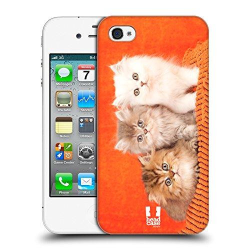 Head Case Designs Chaton Avec Arc Rose Chats Étui Coque D'Arrière Rigide Pour Apple iPhone 3G / 3GS Chinchilla