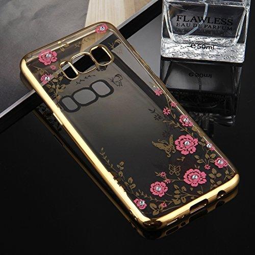 Dropproof 3 in 1 Diamant Silikon Hülle für Handy Für Samsung Galaxy S8 by diebelleu ( Color : Gold ) Gold