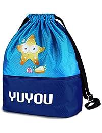 b6e5d13ef Gifts Treat Niños Bolsa de Deporte con Cordón con Cordón, Mochila  Impermeable Liviana para Niños