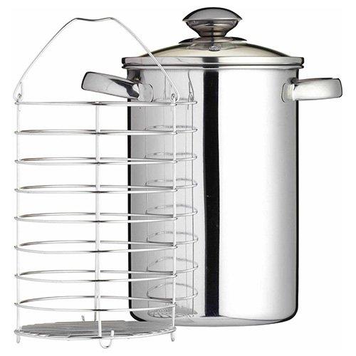 Kitchen Craft 3Liter Spargel Dampfgarer-Dieser Große Edelstahl Steamer ist ideal für Kochen einer Vielzahl von Lang oder hoch geformte Gemüse. Conex-container