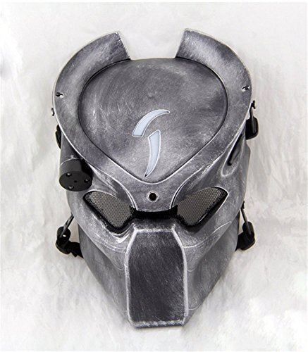 YTM) Alien Vs Predator Softair Paintball Maske mit vier Modi LED Licht NEU Nachbildung