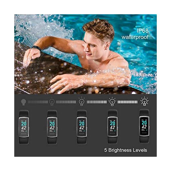 Huyeta Pulsera Actividad Inteligente Fitness Tracker Podómetro Monitor de Sueño Contador de Calorías Pulsera Inteligente… 2