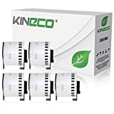 Kineco 5X Endlos-Etikett kompatibel für Brother DK22205 62mm x 30,48m P-Touch QL-1050 1060N 500 550 560 570 580 700 500 A BS BW 560 VP YX 580N 650TD 710W 720NW