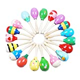 FEITONG Random Color Mini Wooden Ball Children Toys Percussion Musical Instruments Sand Hammer