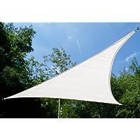 Tende a vela Kookaburra per feste- Triangolo rettangolo 4,2m x 4,2m x 6m Bianco Polare Traspirante Intrecciata