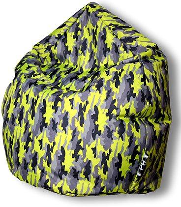 Patchhome Sitzsack Camouflage Tropfenform Kiwi für In & Outdoor XXL 420 Liter - mit Styropor Füllung in 5 versch. Farben und 3 Größen
