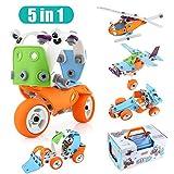 Joyhero Juegos de construcción 135 piezas, Bloques Juguetes de bricolaje DIY Coches Avión Motocicleta para niños de 5 a 8 años (colorido)