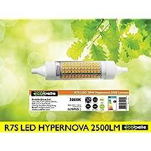 ECOBELLE® 1 x Bombilla LED R7S *HYPERNOVA* 20W 2500 Lúmenes, Color Blanco Cálido 3000K, 118 mm x 25mm, 360 grados, cuerpo de cerámica para mejor refrigeración