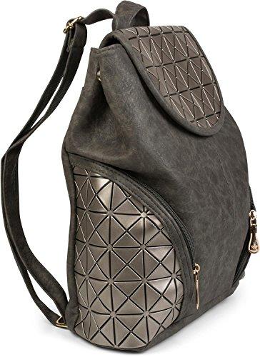 f1eab030160af ... styleBREAKER Rucksack mit geometrischem Prisma Design