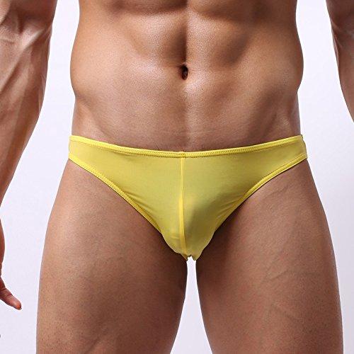Kostüme Männliche Paar (RRRRZ* Männer flaches männliche Unterwäsche Unterwäsche ist transparent 3 Ecke Hosenbügler und schieben Sie die Sexy Männer Unterwäsche, XL,)