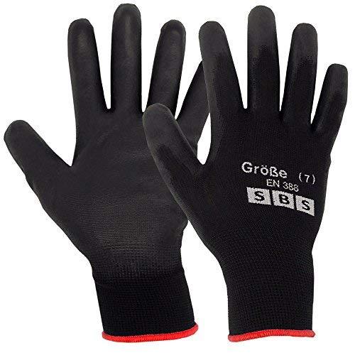 12pares de guantes de nailon SBS