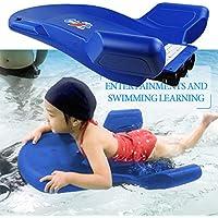 ZQYR# Kickboard Tablas De Natación Eléctrica Aprender A Nadar Piscina Formación Deportes Acuáticos Ayuda De Natacion para Niños | Tres hélices | Azul | 70x64x23cm