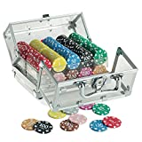 Juego JU00119 Casino Poker Crystal Standard 400 Jetons Chips/Fiches 14 gr.
