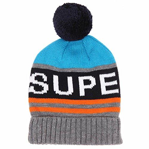 Superdry Redford-Berretto con Logo, colore: grigio mélange-Hats