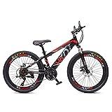 Vélo Garçon Fille Zonix VTT New Fashion 24 Pouces 21 Vitesses Noir Rouge 85% Assemblé