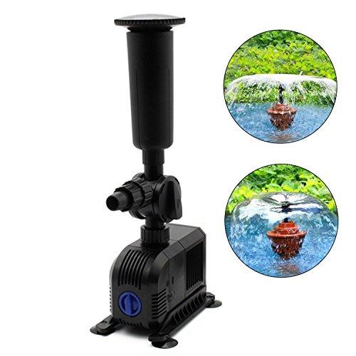 EverBest4U 3000L/h 55W Springbrunnenpumpe Wasserspielpumpe Teichpumpe Fontäne für Jeden Garten und Teich