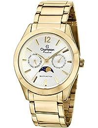 Champion ch38271h mujeres del reloj multifunción de acero inoxidable de  color Dorado con fase lunar d504a7959cd7