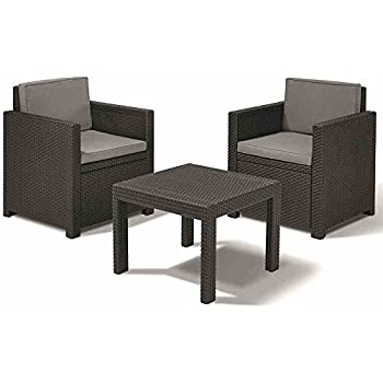 clp poly rattan balkonm bel sitzgruppe bayamo 2 personen aluminium gestell platzsparend. Black Bedroom Furniture Sets. Home Design Ideas