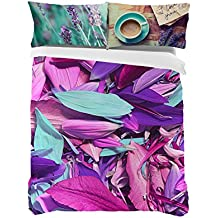 Manterol Juego De Funda Nórdica Morado/Multicolor Cama 180 (270 x 280 cm + 2/50 x 90 cm)