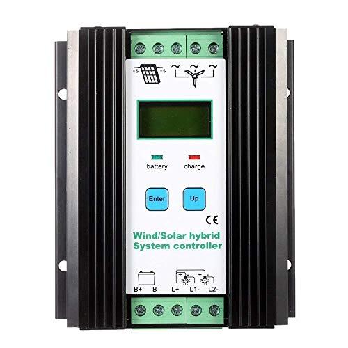 Fuhuihe LCD-Energiespar-Regler PWM Wind Solar Hybrid System Controller 12 V/24 V Automatische Identifikation Batterie Controller (600 W Wind + 400 W Solar) -
