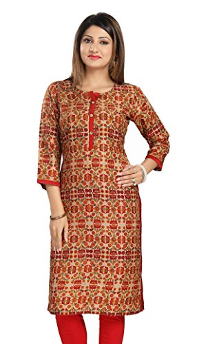 Meher Impex Art Silk Self Design Women's Kurti for Women and Girls