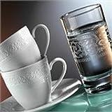 Kütahya Porselen ACELYA Mokkaservice Espressoservice Set 12 tlg Türk Kahvesi Fincan Seti