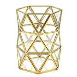 Cafopgrill Portaspazzole per Trucco di secchezza di Trucco di Stile Nordico Supporto per Penne d'oro