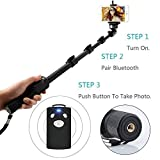 Best I Phone Selfie Stick - US1984 1288 Bluetooth Selfie Stick For Smartphones Review
