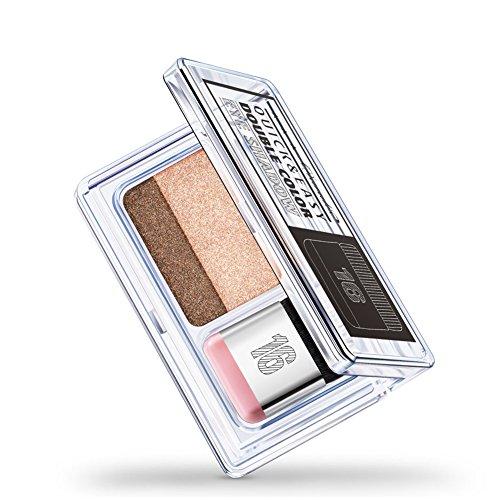 Lidschatten, 2 Farben IDLER schrittweise Augenschminke-Pulver-Palette glänzende Matte Glitter Lidschatten Make-up(#1)
