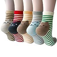 5 Pairs Womens Animal Socks Cute Funny Cotton Socks for Ladies